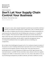 don t tweak your supply chain manage it end to end
