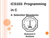 133ICS103_04_SelectionStructures