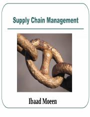 Chapter 1 Supply Chain Management