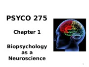 Ch 1 and 2 - Biopsychology  Evolution