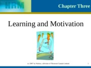 C3 Learning and Motivation
