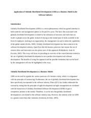 Essay on globally distributed development