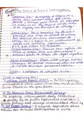 Criminology Notes_Nature of Crime and Victimization