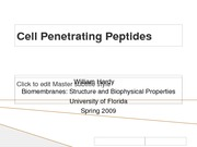 Cell Penetrating Peptides[1]