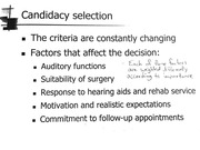 Selecting an Implant Candidate