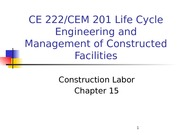 Chapter 15 - Construction Labor - outline