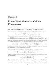 phase transitions and phenomina