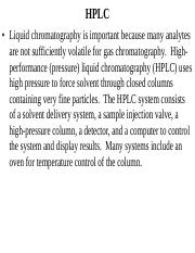Lecture_15 ppt - HPLC Liquid chromatography is important