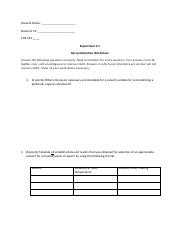 Recrystallization Postlab Worksheet