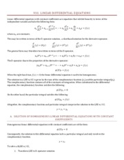 8 Linear Differential Equations