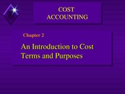Chapter 2 Cost Classification