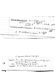 Normal distribution notes