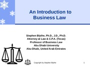 LawChapter1PowerpointLecture