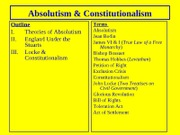 Hist 1002.Module 1 Lecture 2 Constitutionalism and Absolutism
