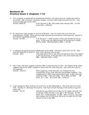 Business 20 Practice Exam 2 Ch 7-101