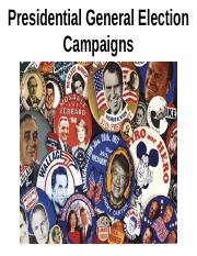 Presidential General Election Campaigns