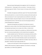french script for oral exam