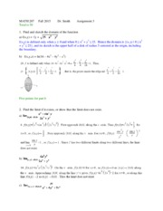 MATH 207 Fall 2015  assignment 3