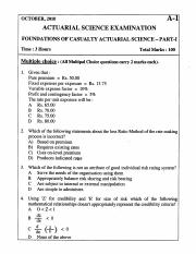 (www.entrance-exam.net)-Actuarial Science Examination-Foundations of Casualty Actuarial Science-Part