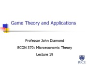 19. Game Theory