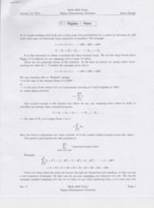 Sigma Notation Test Notes
