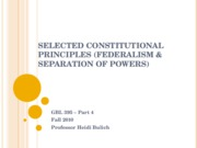 Constitutional Principles (Federalism & Separation of Powers)