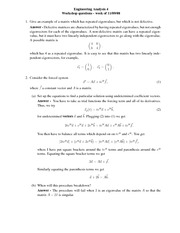 GSW Problem Set 5 Answers