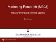 Measurement Concepts Attitude Measurement and Scale Types Lecture