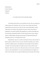 response essay to a good man is hard to find