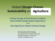 ES 200 Climate Change and Ag Lecture 3 CARLEY