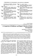 Article - A comparison of kohlberg's and hogan's theories of moral development