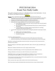 PSY150 Exam Two Study Guide.docx