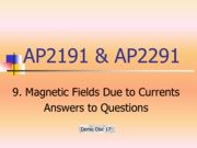 9_Magnetic Fields due to Currents_answers