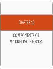 COMPONENTS OF MARKETING PROCESS