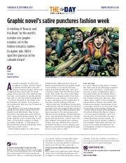 1888 Graphic novel's satire punctures fashion week