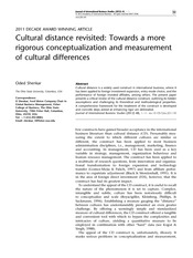 Cultural distance revisited