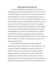 VISST photographic Truth assignment 1 essay
