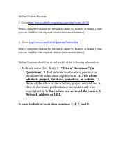 Online Citation Practice - student