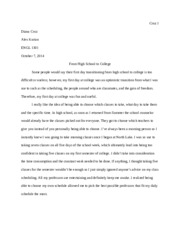 Essay 1 - Narrative
