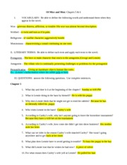 CHAPTER 3 STUDY GUIDE ANSWER KEY - OF MICE AND MEN Chapter 3 Reading And Study Guide I