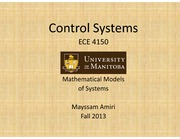 Lecture 1-Mathematical Models of Systems