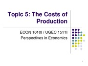 Topic 5. The Costs of Production