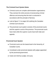 The Criminal Court System Notes