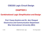 CSE255 Logic Chapter_3_Combinational Logic Minimization and Implementation