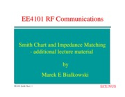 EE4101 Smith Chart and Impedance Matching