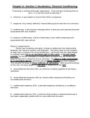 Classical Conditioning Worksheet.doc