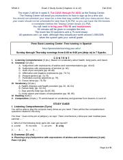 Sp3_Exam2_StudyGuide_Fa16_WithAnswers