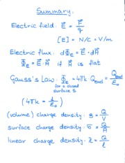 Electric Summary Notes