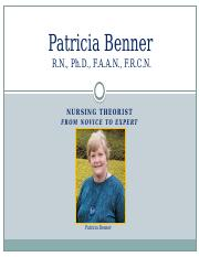 patricia benner background