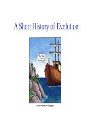 Topic 1, A Short history of evolution